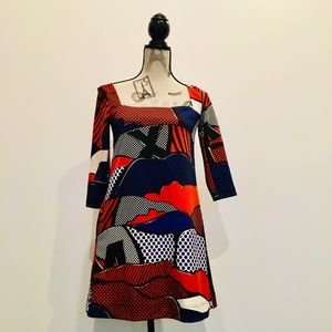 MISS SIXTY Graphic Pic Retro Dress  XS